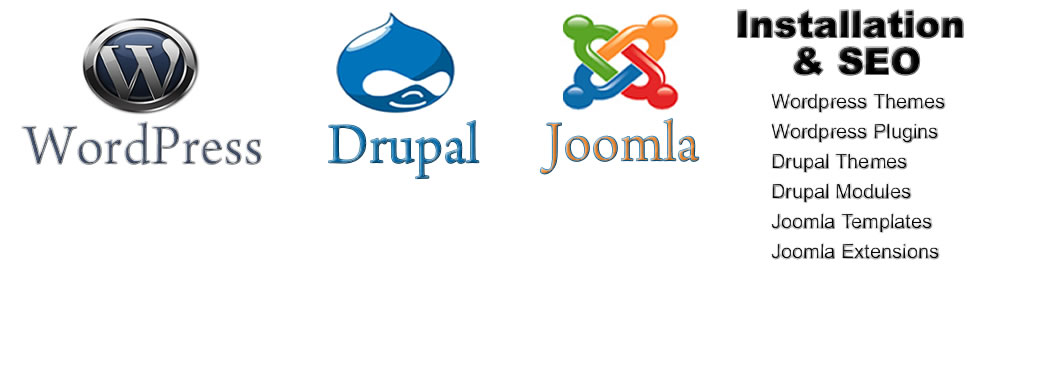 Wordpress, Drupal and Joomla SEO and Installation